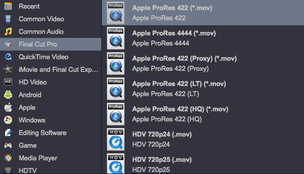 4K Video Converter-Converter 4K XAVC to ProRes MOV for FCP X